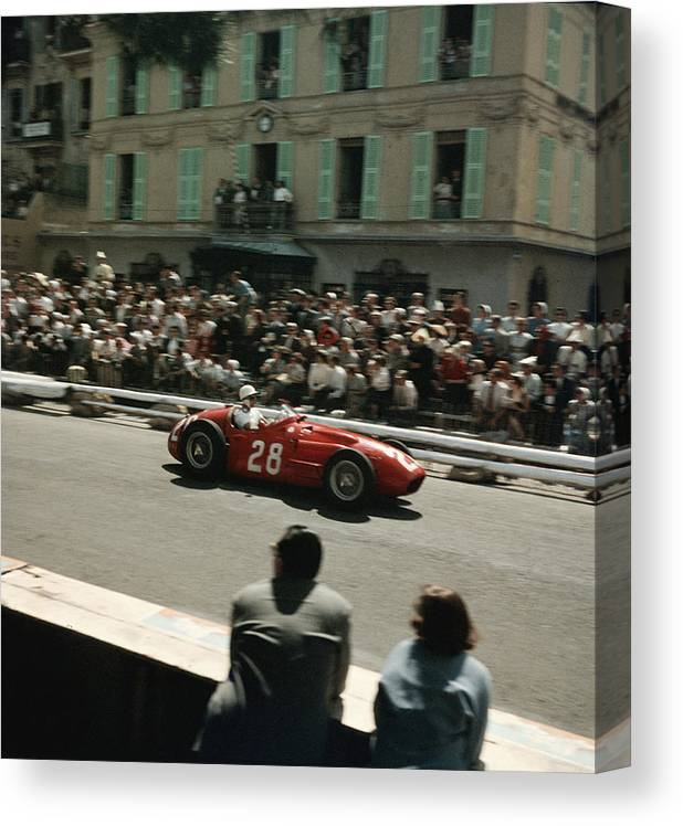 Timeincown Canvas Print featuring the photograph 1956 Monaco Grand Prix by Thomas D. Mcavoy