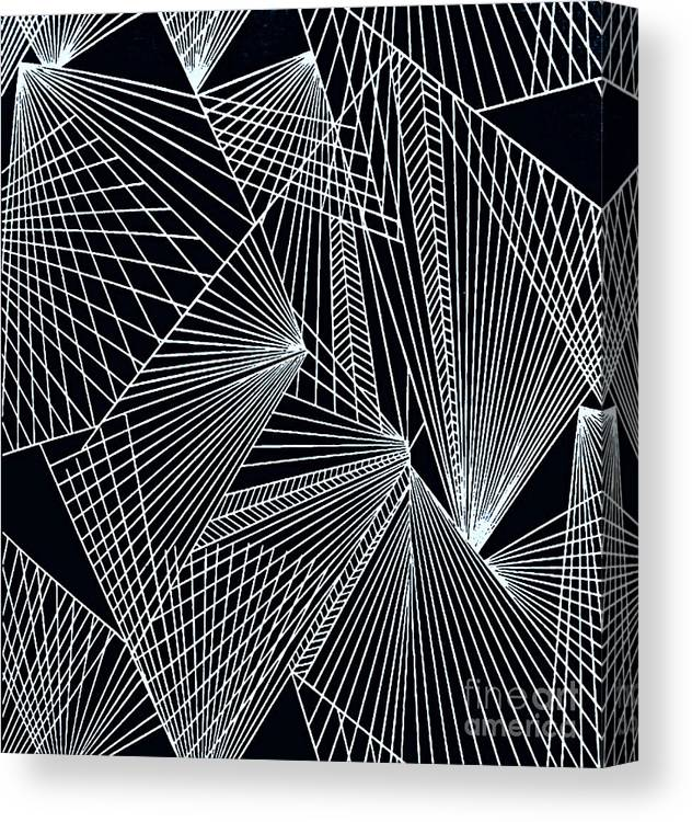 Geometric Patterns Canvas Print featuring the painting Geometric Pattern-1-colour-3 by Katerina Stamatelos