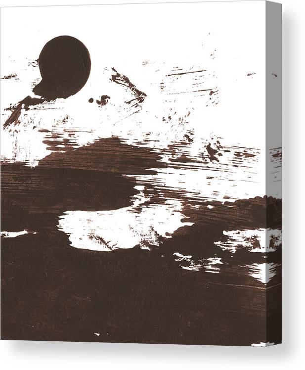 Stained Canvas Print featuring the photograph Messy Tan Brown Paint Mess by Kevinruss
