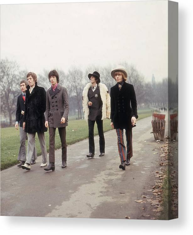 Rock Music Canvas Print featuring the photograph Strolling Stones by Keystone