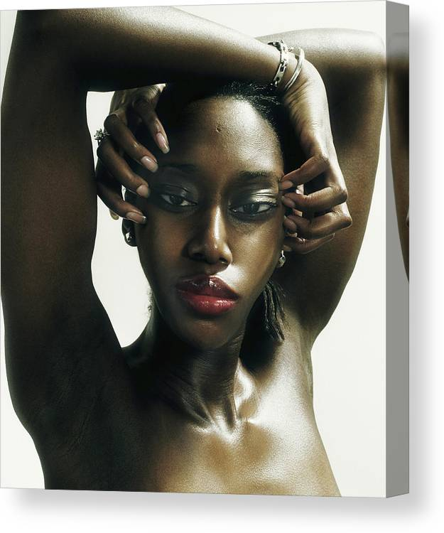 Human Arm Canvas Print featuring the photograph Young Woman With Arms Over Head by Adri Berger