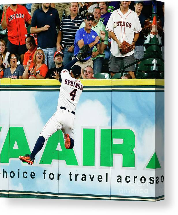 People Canvas Print featuring the photograph George Springer by Bob Levey