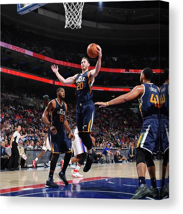 Nba Pro Basketball Canvas Print featuring the photograph Gordon Hayward by Jesse D. Garrabrant