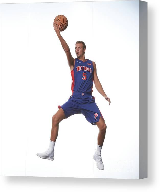 Nba Pro Basketball Canvas Print featuring the photograph Luke Kennard by Nathaniel S. Butler