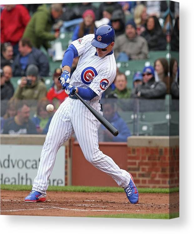 National League Baseball Canvas Print featuring the photograph Anthony Rizzo by Jonathan Daniel