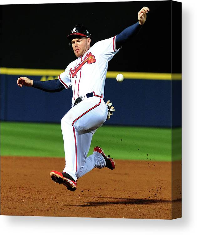 Atlanta Canvas Print featuring the photograph Freddie Freeman by Scott Cunningham