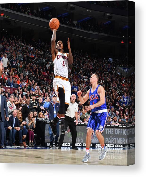 Nba Pro Basketball Canvas Print featuring the photograph Iman Shumpert by Jesse D. Garrabrant