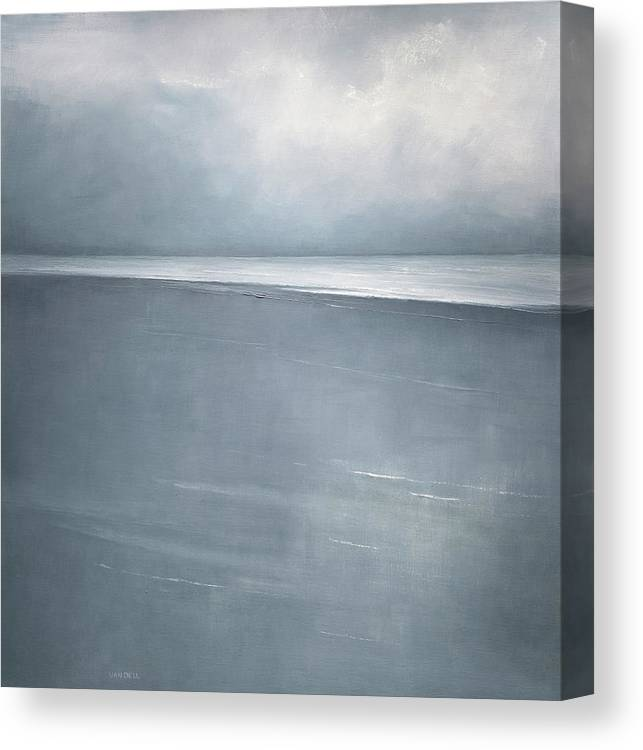 Canvas Print featuring the painting Pale Indigo by Mary Jo Van Dell