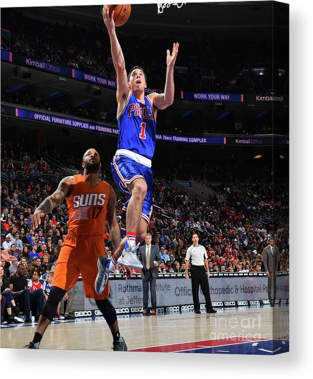 Nba Pro Basketball Canvas Print featuring the photograph T.j. Mcconnell by Jesse D. Garrabrant