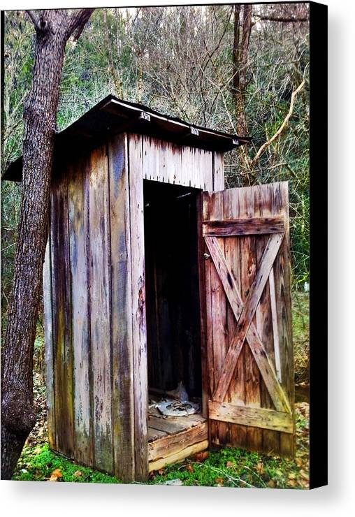 Outhouse Canvas Print featuring the photograph Outhouse by Janice Spivey