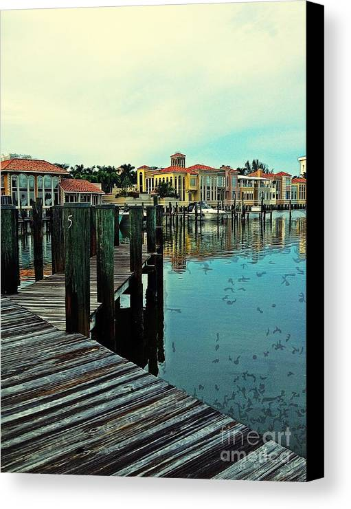 Southwest Florida Canvas Print featuring the photograph View From The Boardwalk by K Simmons Luna