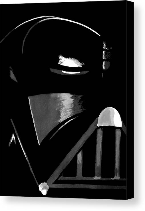 Star Wars Canvas Print featuring the painting Vader by Dale Loos Jr