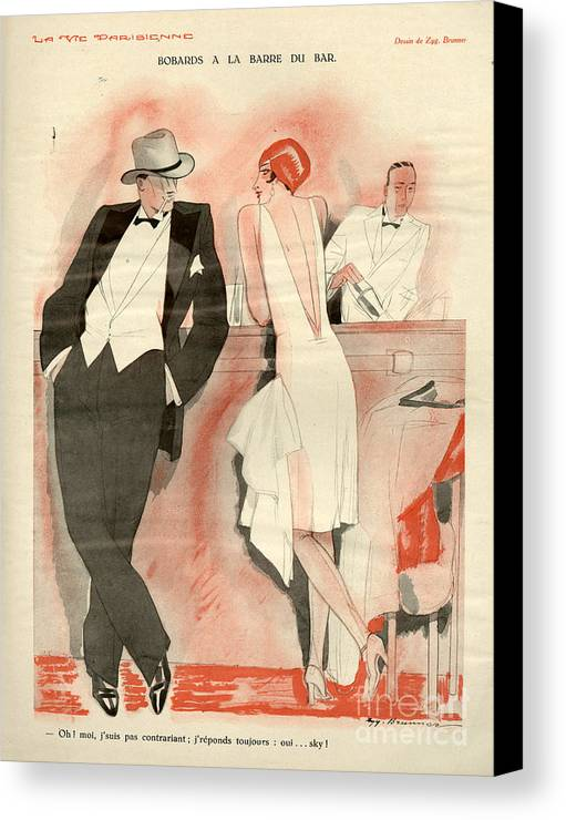 France Canvas Print featuring the drawing 1920s France La Vie Parisienne Magazine by The Advertising Archives
