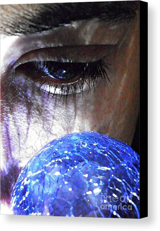 Blue Glass World Canvas Print featuring the photograph Blue Glass World by Sarah Loft