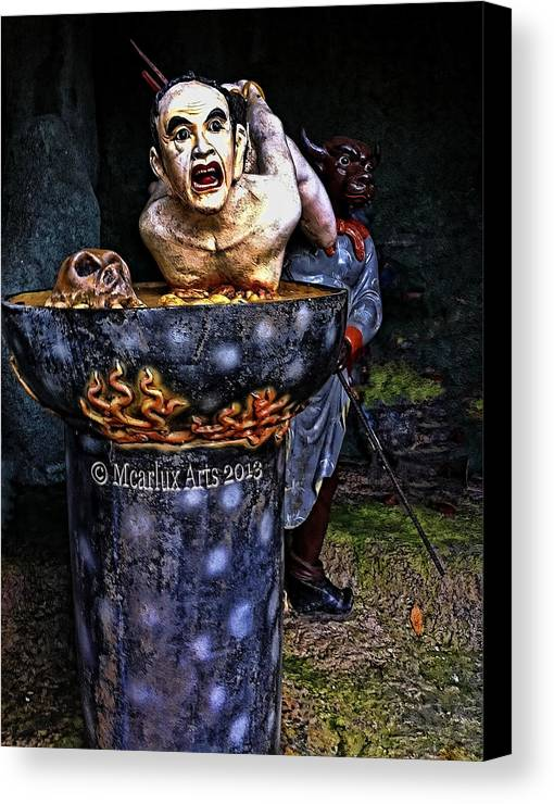 Statue Canvas Print featuring the photograph Boil Down by Maricar Edano Casaclang