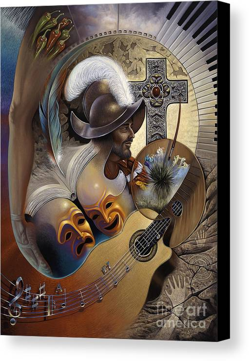 Culture Canvas Print featuring the painting Color Y Cultura by Ricardo Chavez-Mendez