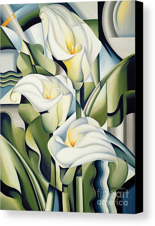 Cubist Canvas Print featuring the painting Cubist Lilies by Catherine Abel