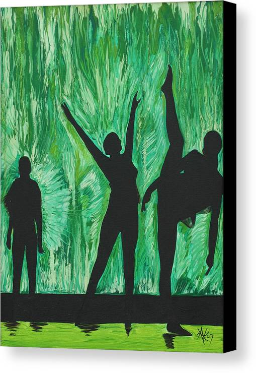 Abstract Canvas Print featuring the painting Dance by Aimee Vance