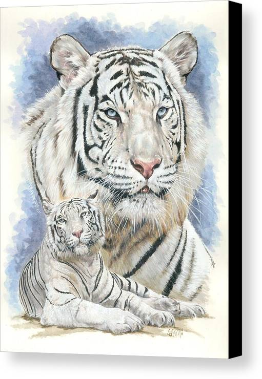 Big Cat Canvas Print featuring the mixed media Dignity by Barbara Keith