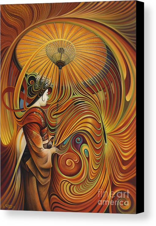 Dynamic Canvas Print featuring the painting Dynamic Oriental by Ricardo Chavez-Mendez