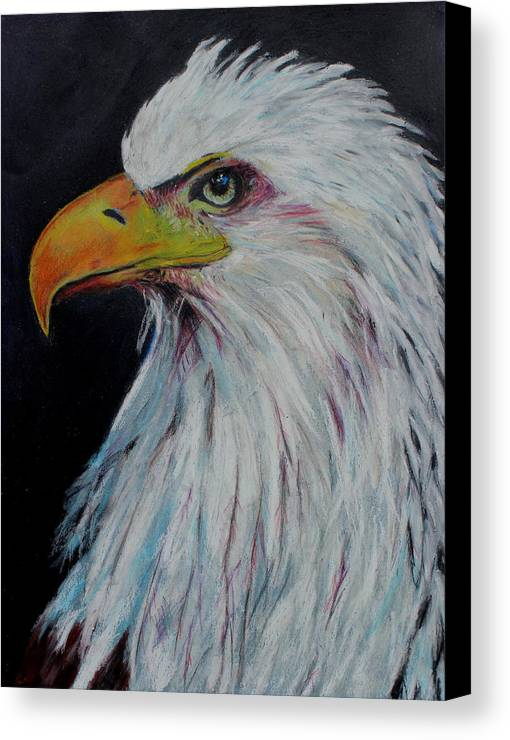 Eagle Canvas Print featuring the painting Eagle Eye by Jeanne Fischer