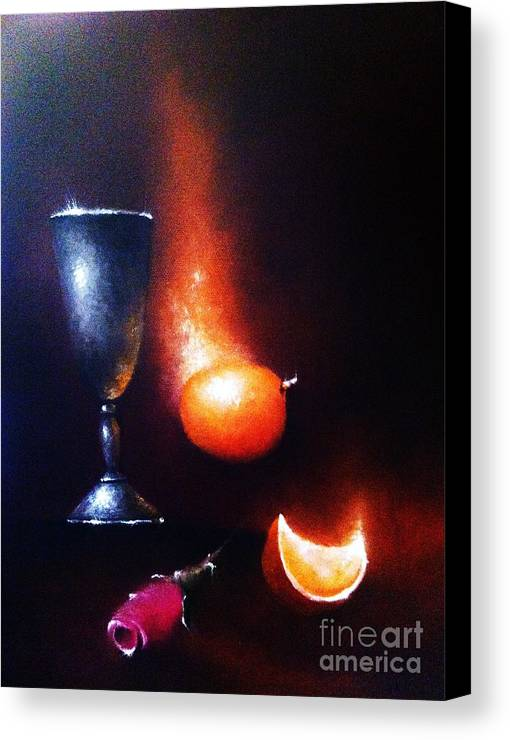 Still Life Canvas Print featuring the photograph Fallen by Tony Gittins