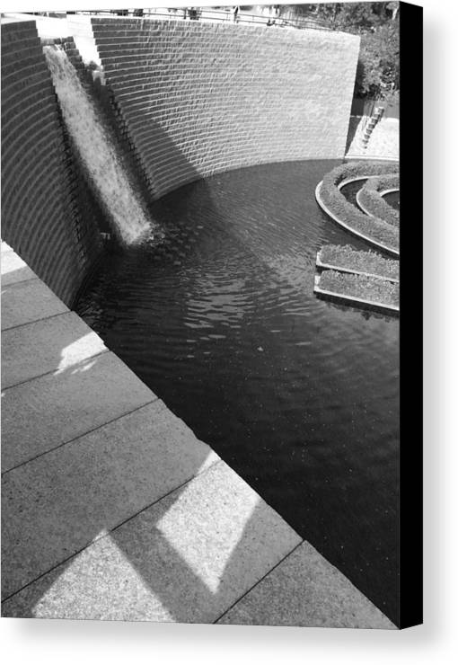 Getty Canvas Print featuring the photograph Getty Museum by Aaron Swenson