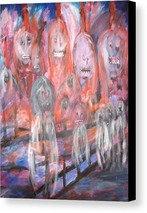 Ghosts Canvas Print featuring the painting Ghost Walk by Randall Ciotti