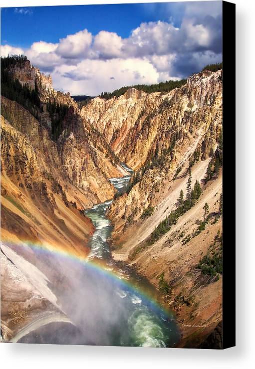 Yellowstone Canvas Print featuring the photograph Grand Canyon Of Yellowstone 1 by Thomas Woolworth