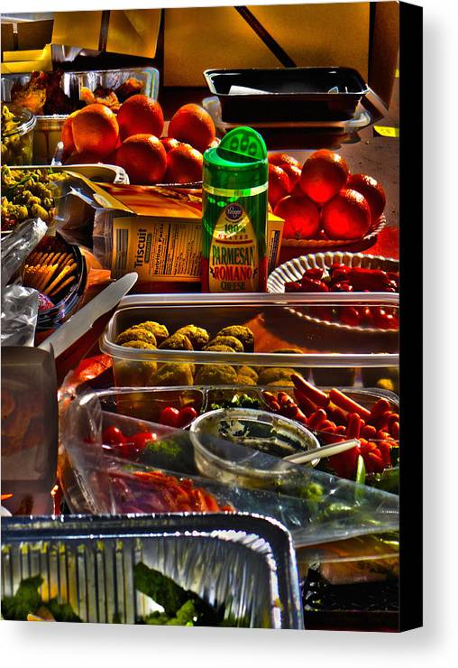 Food Canvas Print featuring the photograph Grazing Table 2 by Richard J Cassato