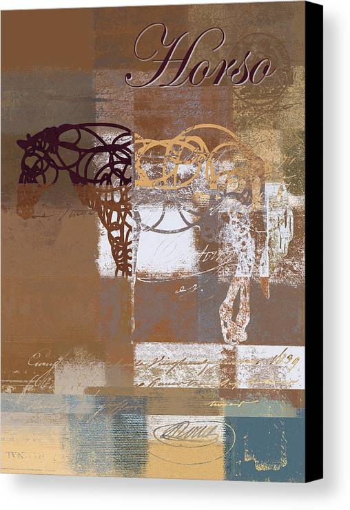 Horse Canvas Print featuring the digital art Horso - S03bgmc1tx by Variance Collections