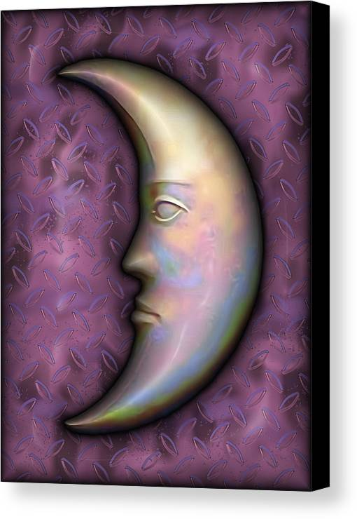 Moon Canvas Print featuring the digital art I See The Moon 2 by Wendy J St Christopher