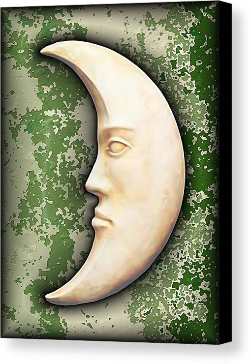 Moon Canvas Print featuring the digital art I See The Moon 3 by Wendy J St Christopher