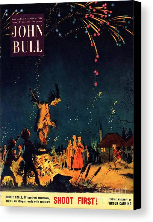 1950�s Canvas Print featuring the drawing John Bull 1954 1950s Uk Guy Fawkes by The Advertising Archives