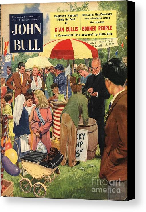 1950�s Canvas Print featuring the drawing John Bull 1956 1950s Uk Schools by The Advertising Archives