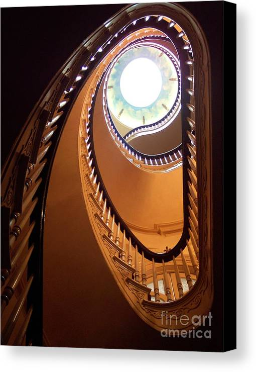 New York Canvas Print featuring the sculpture Looking Up by Jacqui Thomas