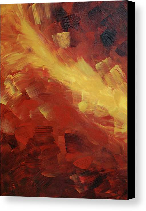 Fire Canvas Print featuring the painting Muse In The Fire 1 by Sharon Cummings