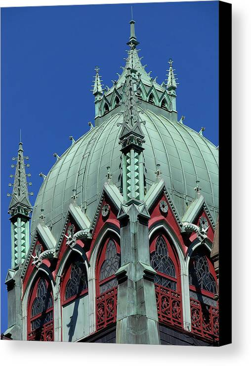 Boston Canvas Print featuring the photograph Old South Church Tower by Mary Lane