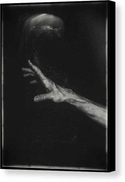 Black And White Canvas Print featuring the photograph Reach No.2 by James Bethanis
