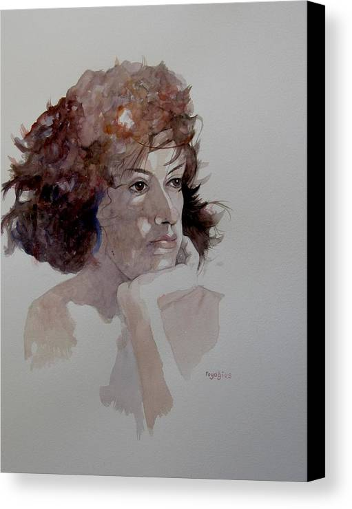 Portrait Canvas Print featuring the painting Rebecca V by Ray Agius