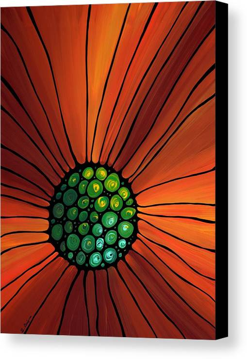 Sharon Cummings Canvas Print featuring the painting Soul Kiss 2 by Sharon Cummings