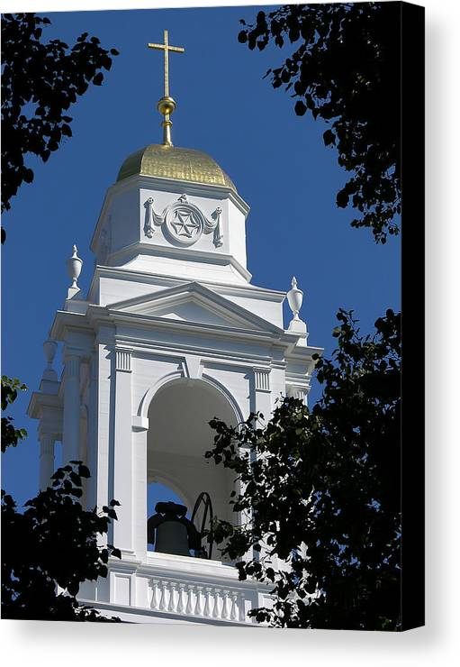 Boston Canvas Print featuring the photograph St. Stephans Spire by Mary Lane