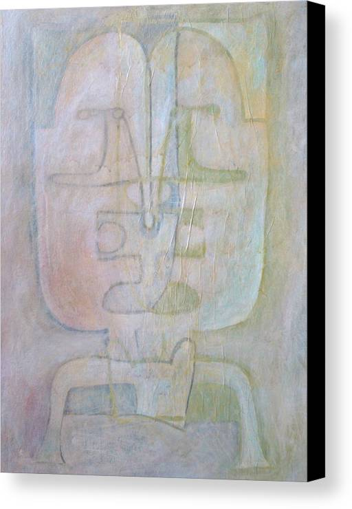 Abstract Faces Canvas Print featuring the painting Till We Have Faces by W Todd Durrance
