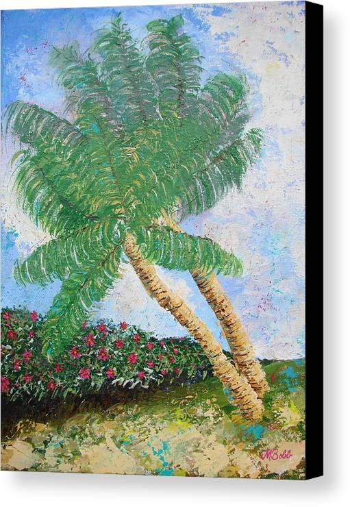 Tropical Canvas Print featuring the painting Tropical Flair by Margaret Bobb