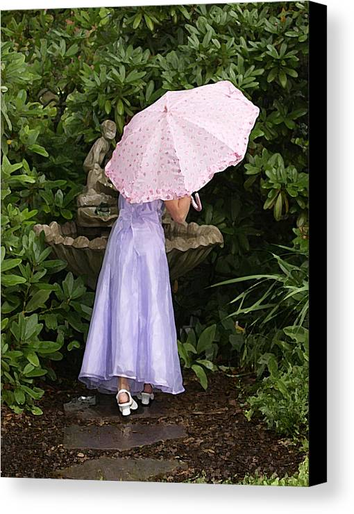 Umbrella Canvas Print featuring the photograph Umbrella by Kandace Little