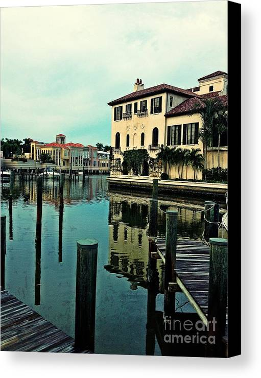 Southwest Florida Canvas Print featuring the photograph View From The Boardwalk 3 by K Simmons Luna