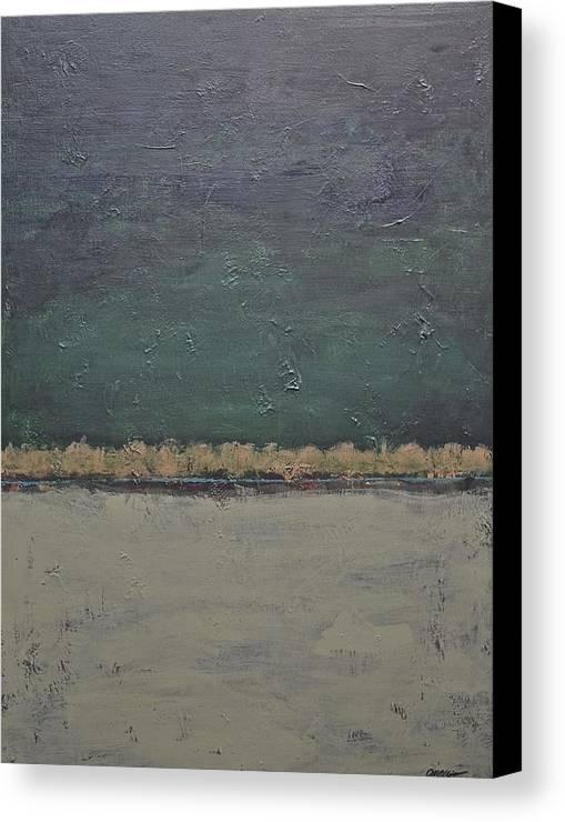 Rectangular Canvas Print featuring the painting Yonder Creek by Jim Ellis