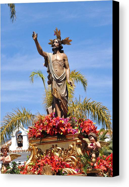 Semana Santa In Nerja - Jesus Canvas Print featuring the photograph 070 by Patrick King