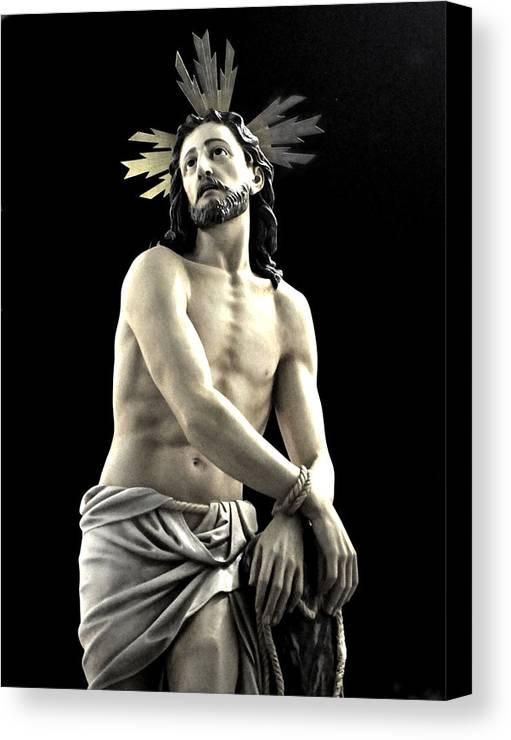 Semana Santa In Olvera - Scourged At The Pillar Canvas Print featuring the photograph 072 by Patrick King