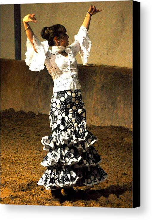Flamenco Dancer - Marta Canvas Print featuring the photograph 031 by Patrick King